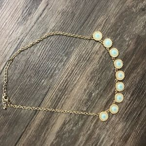 Francesca's turquoise stone statement necklace